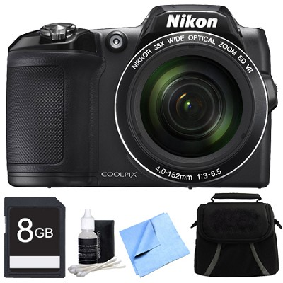COOLPIX L840 16MP 38x Opt Zoom Digital Camera 8GB Accessory Bundle - Black