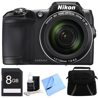 COOLPIX L840 16MP 38x Opt Zoom Digital Camera 8GB Accessory Bundle - Black