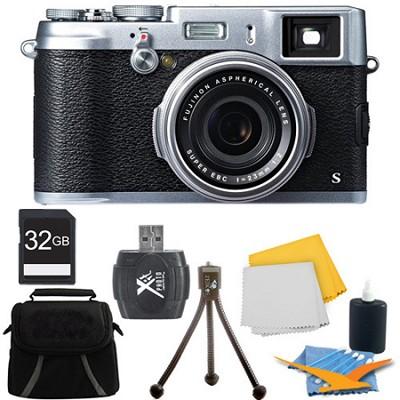 X100S 16MP Full HD 1080p Video Digital Camera 32GB Silver Kit