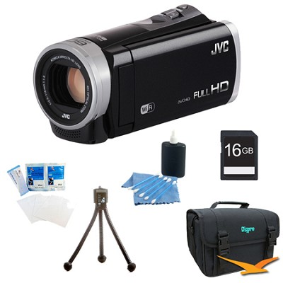 GZ-EX310BUS - HD Everio Camcorder 40x Zoom f1.8 (Black) with 16GB Bundle