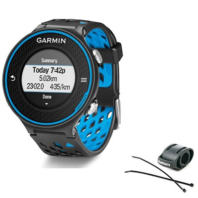 Forerunner 620 Black/Blue Bundle with Heart Rate Monitor + Bike Mount Kit