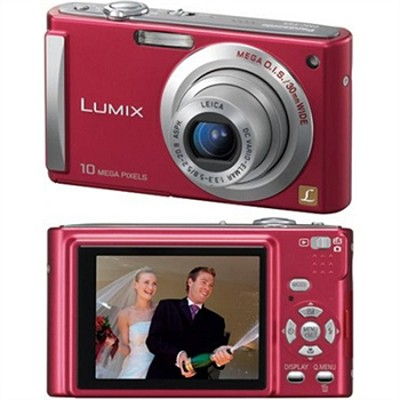 DMC-FS5 (Red) 10 Megapixel Digital Camera w/ 2.5-inch LCD & 4x Optical Zoom