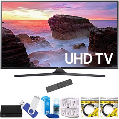 55` 4K Ultra HD Smart LED TV 2017 Model with Terk Tuner Bundle