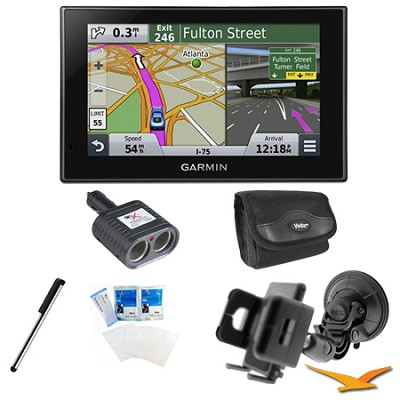 nuvi 2599LMT Advanced Series 5` GPS Navigation System Mount Bundle