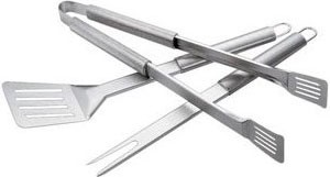 3-Piece Stainless-Steel Barbecue Tool Set