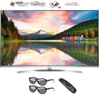 65` 4K Super UHD HDR 240Hz Smart 3D LED TV w/ Remote & 3D Glasses - Refurbisheds