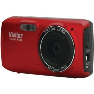 VS130-RED- 16.1MP Digital Camera with 3-Inch LCD (Red)