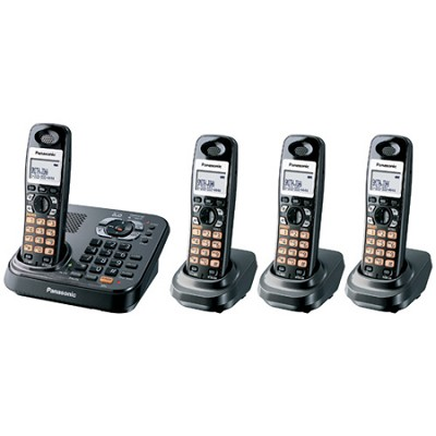 KX-TG9344T DECT 6.0 Expandable Digital Cordless Phone with 4 Handsets