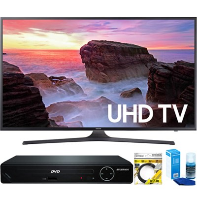 40` 4K Ultra HD Smart LED TV (2017 Model) + HDMI DVD Player Bundle