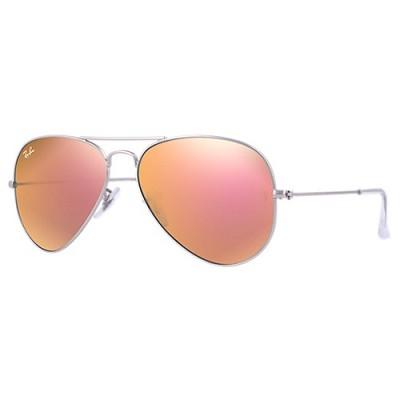 Aviator Large Metal Sunglasses Copper Flash 58mm