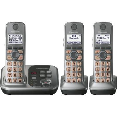 KX-TG7733S Dect 6.0 3-Handset Landline Telephone