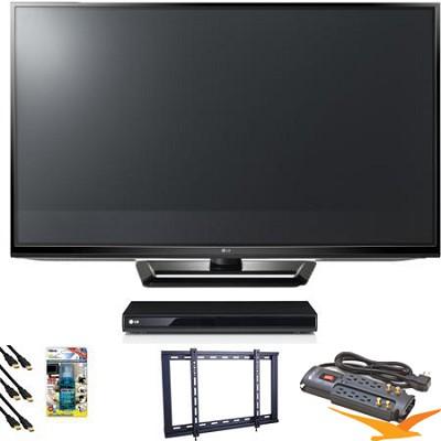 50PA4500 50` Class 720p Plasma HD TV Blu Ray Bundle