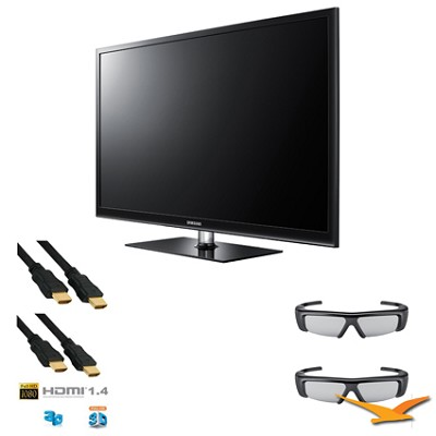 PN51D490 51 inch 3D 600hz Plasma HDTV 3D KIT