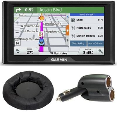 Drive 60LM GPS Navigator (US) 010-01533-0C Friction Mount + Car Charger Bundle