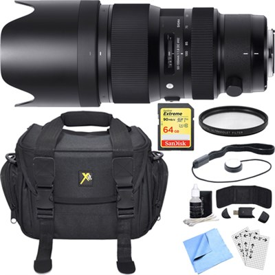 50-100mm f/1.8DC HSM Lens for Nikon Mount Essential Accessory Bundle