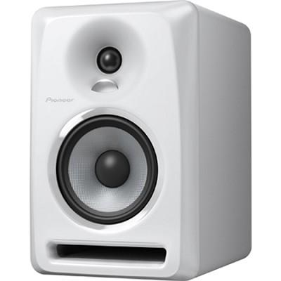 White Pioneer S-DJ50X 5` Active DJ Speaker Reference Monitor