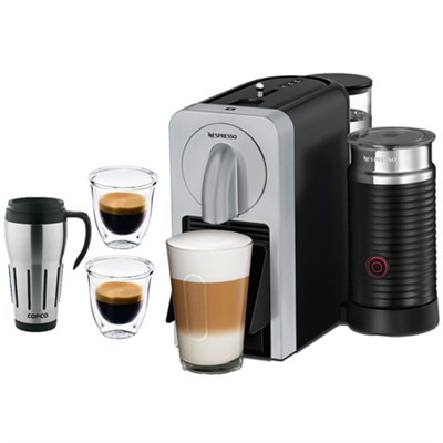 Prodigio Smart Connected Coffee & Espresso Maker & Milk Frother Silver + Bundle