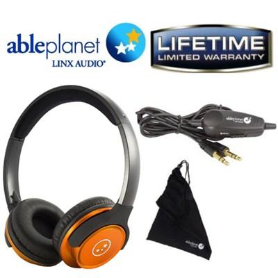 SH190 Travelers Choice Stereo Headphones w/ LINX AUDIO - OPEN BOX