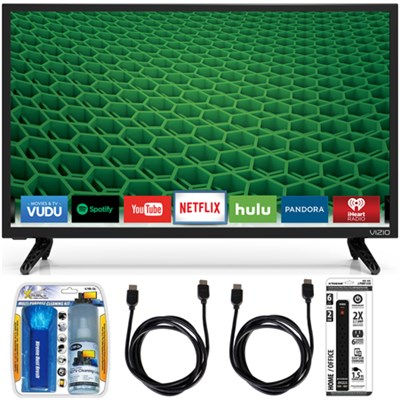 D24-D1 D-Series 24` Class Edge-Lit LED Smart TV Essential Accessory Bundle