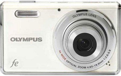 FE-4000 12MP Digital Camera w/ 4x Wide Angle Opt Zoom, 2.7 in LCD (Pearl White)