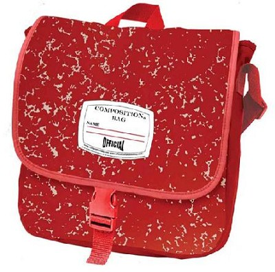 Official Composition Backpack/Messenger Bag  (Red)