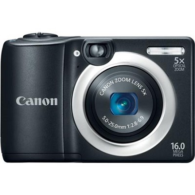 PowerShot A1400 Black 16MP Digital Camera with 5x Opt. Zoom, Optical ViewFinder