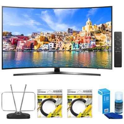 65` Class KU7500 7-Series Curved 4K UHD Smart LED TV w/ Accessories Kit
