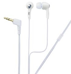 HAF-X55ZW High-Quality in-ear Headphones (White) w/ rubber ear piece in 3-sizes