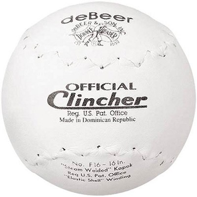 Debeer F16 16-inch Clincher Softball
