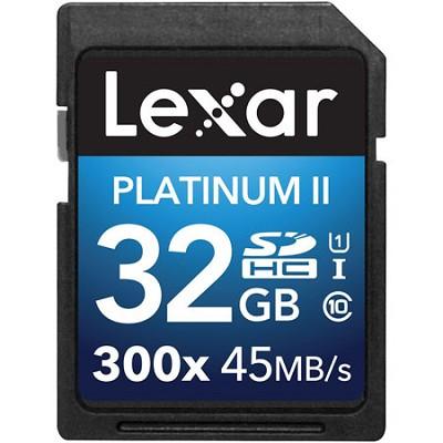 Platinum II 300x SDHC 32GB UHS-I/U1 Flash Memory Card