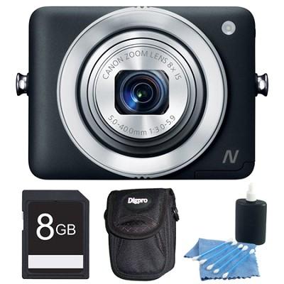 PowerShot N Black 12.1MP Digital Camera 8GB Bundle