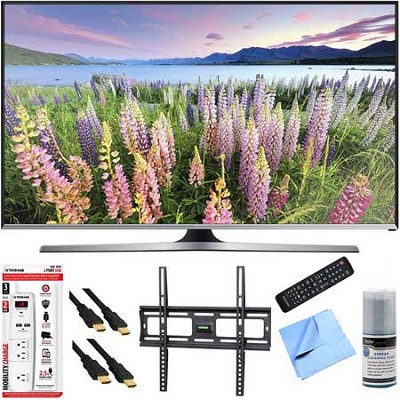 UN48J5500 - 48-Inch Full HD 1080p Smart TV Plus Mount & Hook-Up Bundle
