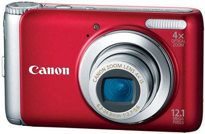 PowerShot A3100IS 12MP 4x Zoom Digital Camera (Red) Refurbished