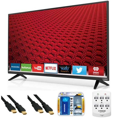 E40-C2 - E-Series 40-Inch 120Hz 1080p Smart LED HDTV Plus Hook-Up Bundle