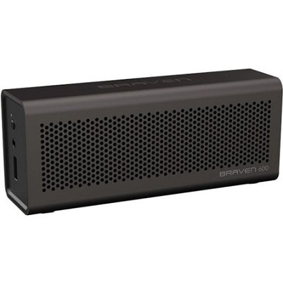 600 Bluetooth Speakerphone and Charger for iPhone, iPod, iPad (Gray) OPEN BOX
