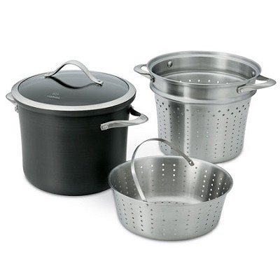 8-qt. Contemporary Nonstick Dishwasher Safe Multi Pot with Steamer Insert