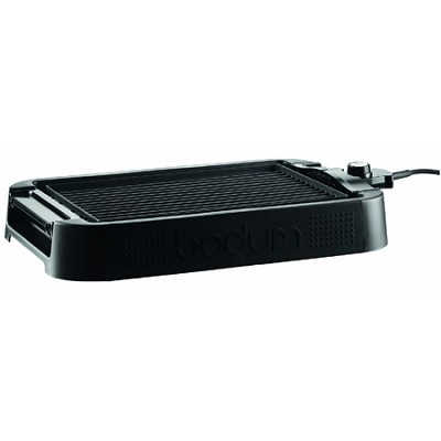 Electric Indoor Table Grill and Griddle - Black - NEW TORN BOX