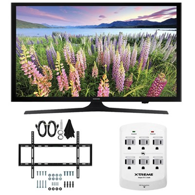 UN40J5200 - 40-inch Full HD 1080p Smart LED HDTV Slim Flat Wall Mount Bundle