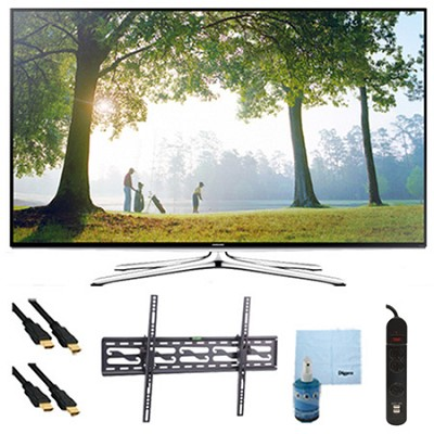 UN65H6350 - 65` HD 1080p Smart HDTV 120Hz with Wi-Fi Tilt Mount & Hook-Up Bundle