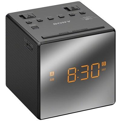 Alarm Clock with FM/AM Radio, Black - OPEN BOX