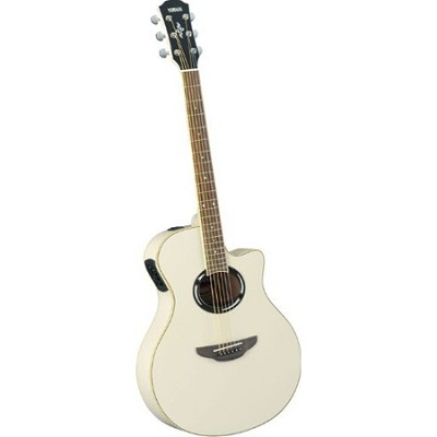 APX500II Thinline Cutaway Acoustic-Electric Guitar Vintage White