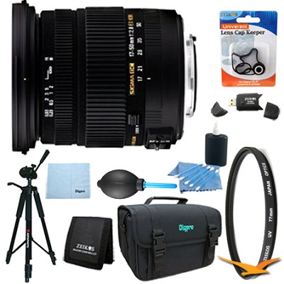 17-50mm f/2.8 EX DC OS HSM FLD Zoom Lens for Nikon DSLR Lens Kit Bundle