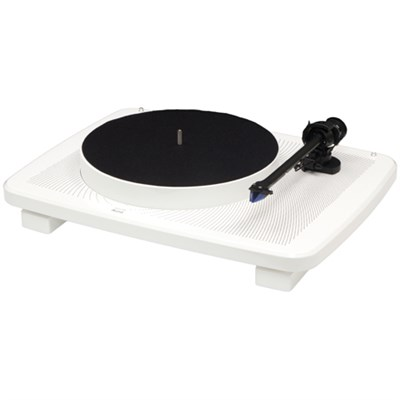 Ikura Split-Plinth Design Belt Driven Turntable - White