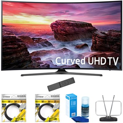49` Curved 4K Ultra HD Smart LED TV 2017 Model with Cleaning Bundle
