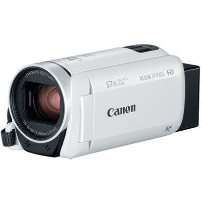VIXIA HF R800 Camcorder w/ 57x Advanced Zoom, 3.28MP - White