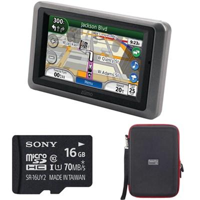 Zumo 665LM GPS Motorcycle Navigator XM Radio Lifetime Maps 16gb Bundle