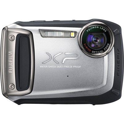 Finepix XP100 14MP Water/Shock/Freeze/Dust-Proof Digital Camera (Silver)