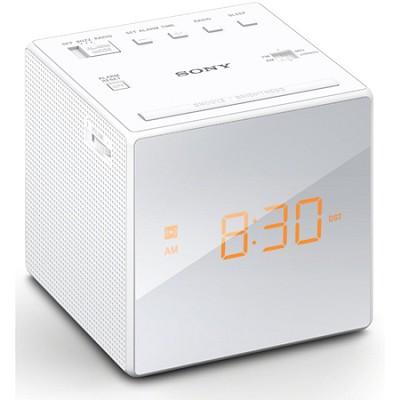 Alarm Clock with FM/AM Radio, White (ICF-C1WHITE) - OPEN BOX