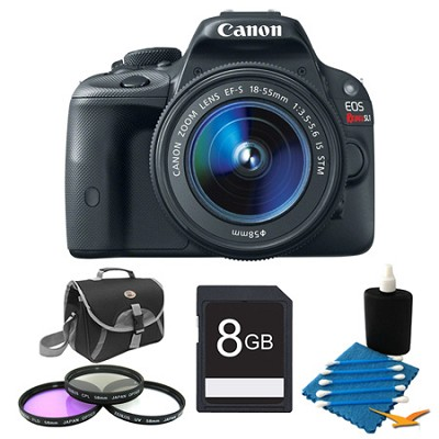 EOS Rebel SL1 SLR Digital Camera EF-S 18-55mm 8GB Bundle