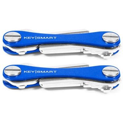2-Pack Compact Key Holder Bundle (2-8 Keys Each) - Blue